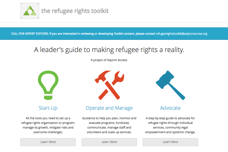 Refugee Rights Toolkit
