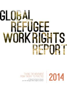Cover of the Global Refugee Work Rights Report