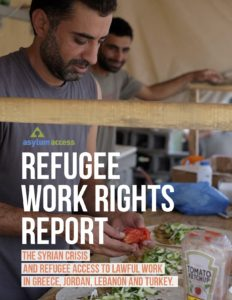 Cover of the Middle East Refugee Work Rights Report