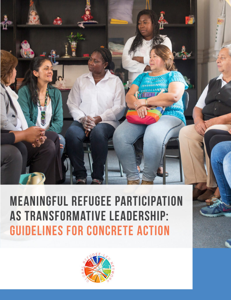 Cover of the meaningful refugee participation guidelines