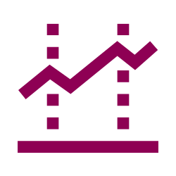 Vector image of a line graph