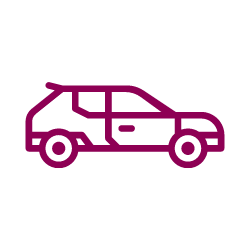 Vector image of a car