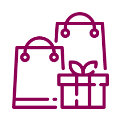 Vector image of shopping bags