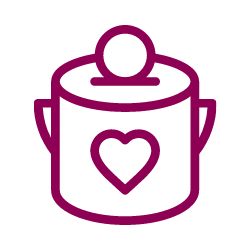 Vector image of a fundraising jar