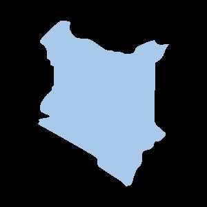 Image shows a map outline of Kenya