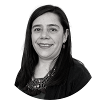 Image shows a portrait photo of Alejandra Macías Delgadillo, Executive Director of Asylum Access Mexico