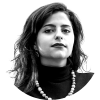 Image shows a portrait photo of Sana Mustafa, Associate Director of Partnerships and Engagement for Asylum Access
